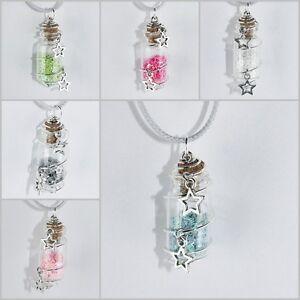 Kette-Sterne-Flasche-Streuen-silber-glitzer-weiss-pink-rosa-tuerkis-gruen-kleeblatt
