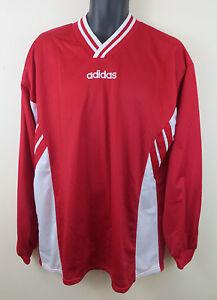 a6072c958 Vtg Adidas 90s Football Shirt Retro Soccer Jersey Red Long sleeve ...