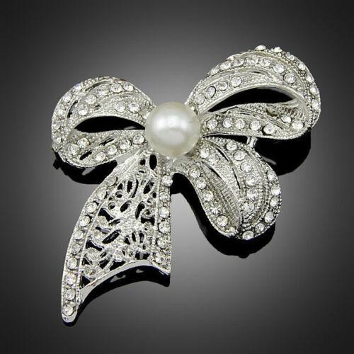 Korean Vintage Nœud Mariage Fleur Perle Broche Vêtements Broches Femmes Accessoires