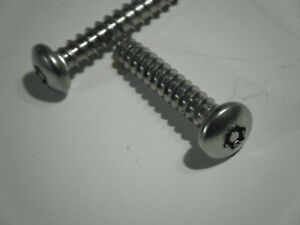 QTY 25 Stainless Steel Tamper Proof Security Torx Sheet Metal Screw 8 x 1//2