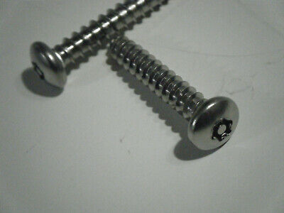Star Drive Button Head Security Sheet Metal Screws #14 x 3 Qty 100