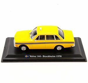 1-43-Leo-Alliage-Modele-De-Voiture-Volvo-144-Stockholm-1970-Taxi-Diecast-Toys-velo-camions