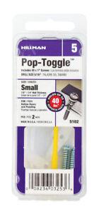 Hillman 5104 Pop-Toggle Anchor w// Screw /& Pin Medium 2pc Fas-Pak