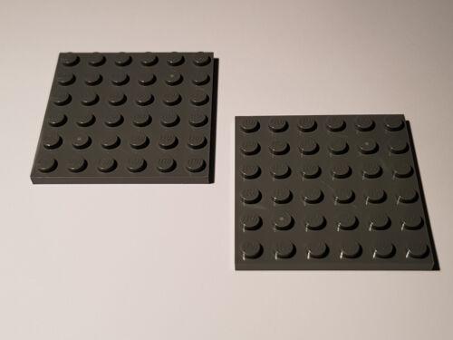 #TW50 Star Wars LEGO® 2 x 3958 Platte 6 x 6 dunkelgrau 4211134