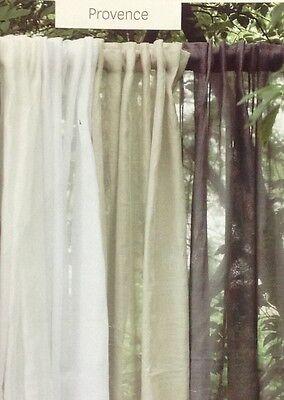 2 Vintage Linen Tan Curtain Panels Shabby French Provence Chic Drape Retail $195