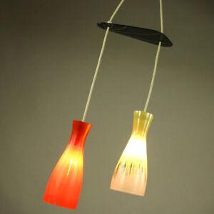 Diabolo-Glas-Schirm-Pendel-Leuchte-Top-Design-2er-Kaskade-Haenge-Lampe-50er