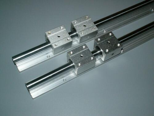 SBR16-2200mm 16MM LINEAR SLIDE GUIDE SHAFT 2 RAIL+4SBR16UU Bearing Block CNC set