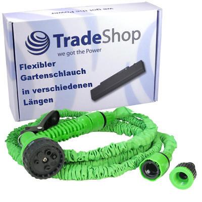 Flexibler dehnbarer Wasserschlauch Gartenschlauch Wonder Hose Sprükopf 7,5-60m