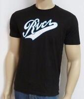 Rvca The Pennant Tee Mens Black 100% Cotton T-shirt