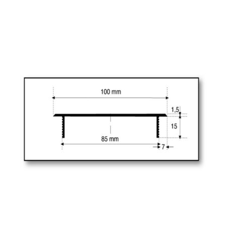Aluminium Lüftungsgitter Gitter Heizungsdeckel Stegblech Braun 100x800mm C4