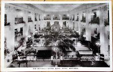 1927 Montreal Realphoto Postcard: Mount Royal Hotel Rotunda Interior - Canada