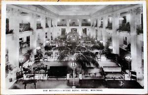 Image Is Loading 1927 Montreal Realphoto Postcard Mount Royal Hotel Rotunda