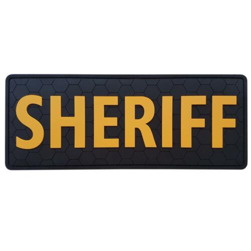 """SHERIFF Large XL 10/""""x4/"""" rubber PVC SWAT body armor tactical federal hook patch"""