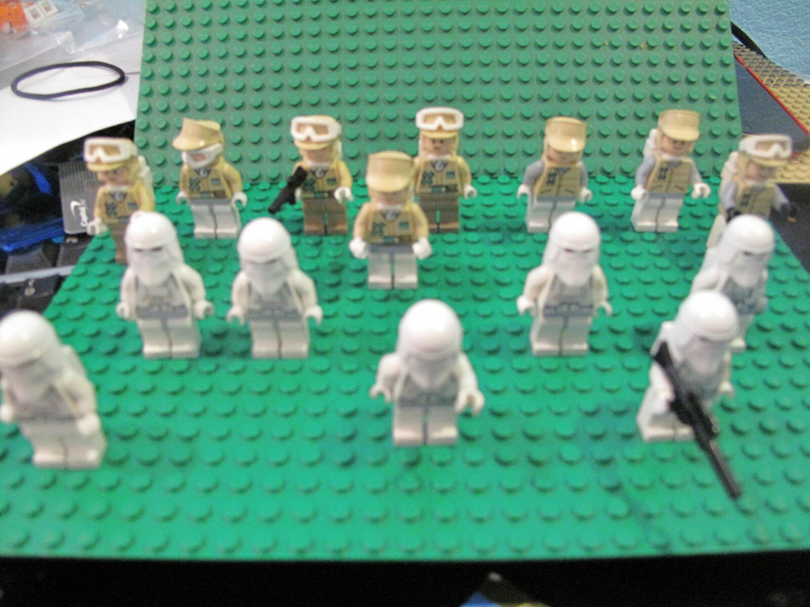 LEGO Star Wars Lot Set of 15 Hoth Rebel Soldiers Trooper & Imperial snow trooper
