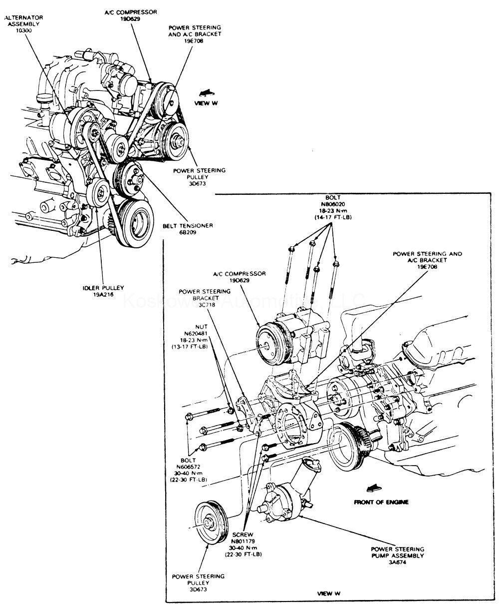 1997 ford ranger 2 3l power steering diagram