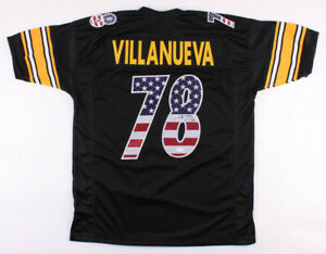newest 2eb11 f5e38 Details about Alejandro Villanueva Signed Pittsburgh Steelers