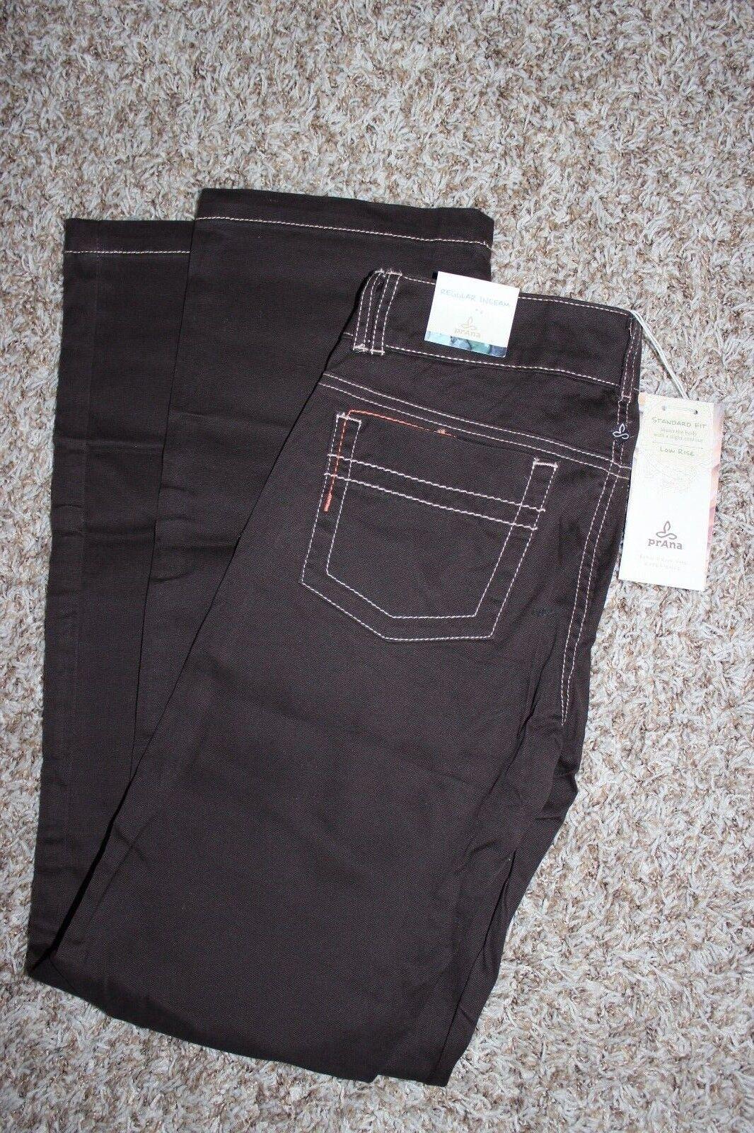 NWT  PrAna Bedford Canyon Organic Cotton Espresso Pants 0R