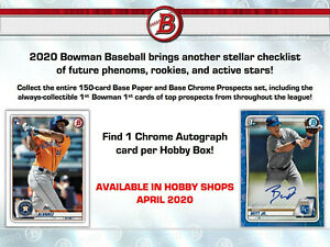 ANDREW-VAUGHN-2020-Bowman-Hobby-FULL-CASE-12x-BREAK-1-12-Autos