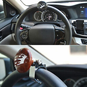 Controllers Special Section Black Heavy Duty Suicide Knob Auto Car Steering Wheel Spinner Handle Knob Fixing Prices According To Quality Of Products Automobiles & Motorcycles