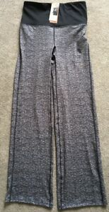 New-Marks-And-Spencer-Black-White-Fleck-Active-Sculpting-Workout-Trouser-Size-10