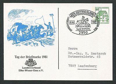 Streng Brd Privat-ga 1981 Tag Der Marke Pferde-kutsche Pferd Horse Leer D6155 Reich Und PräChtig