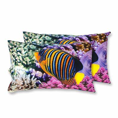 Amichevole Coppia Federe Per Guanciale Coral Barriera Corallina I Love Sleeping Stampa D...