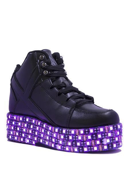 Yru Qozmo lo Negro Iluminación Led Plataforma Zapatillas Cyber Cyber Cyber Gótico Punk  disfrutando de sus compras