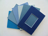 Aceo Picture Frame Mats Lot 6 Blue Choose Size 2.5 X 3.5 Art Fits 5x7 Or 4x6