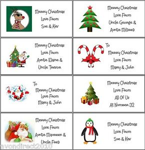 21 personalised christmas labels gift tags stickers self