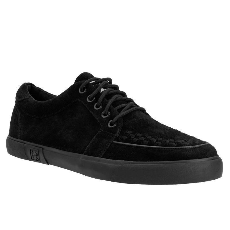 T.U.K A9184 VLK D Ring Creeper Sneaker Black Suede