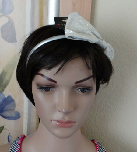 NEW headband M STYLE LAB by FANTASIA,chose bow//flower//feather elastic or hard