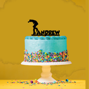 Personalised-Name-Acrylic-Cake-Topper-Skateboard-Theme