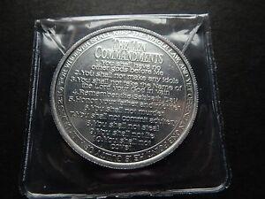 Religieux médaillon-Dix Commandements & Verse-needgod.com en aluminium 39 mm CASE