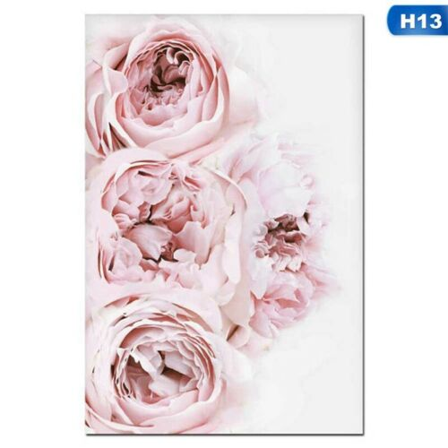 Canvas Painting Nordic Decor Pink Peony Flower Poster Wall Art Floral Decor-vzYL