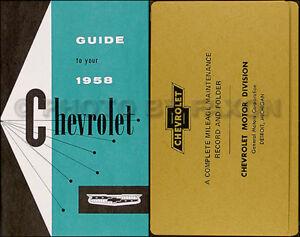 1960 Chevy Manuel Du Propriétaire Paquet El Camino Impala Bel Air Biscayne Vqzs4wck-08002938-837245575