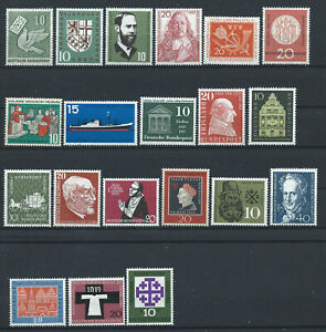 Allemagne-RFA-Lot-20-Tp-Neuf-MNH-1956-59
