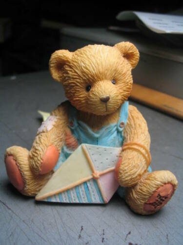 with Kite Tail Cherished Teddies MARK March Bear Holding Kite /'93 MIB