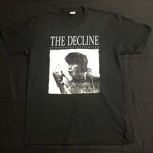 323780a3 Supreme Decline of Western Civilization Tee T Shirt Black Large FW17 ...