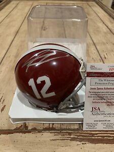 Kenyan Drake Autographed/Signed Mini Helmet JSA COA Alabama Crimson Tide B