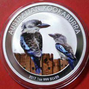 Australien-1-Dollar-2017-Kookaburra-1-oz-F3804-ST-BU-Nur-2-000-Coloured-rare