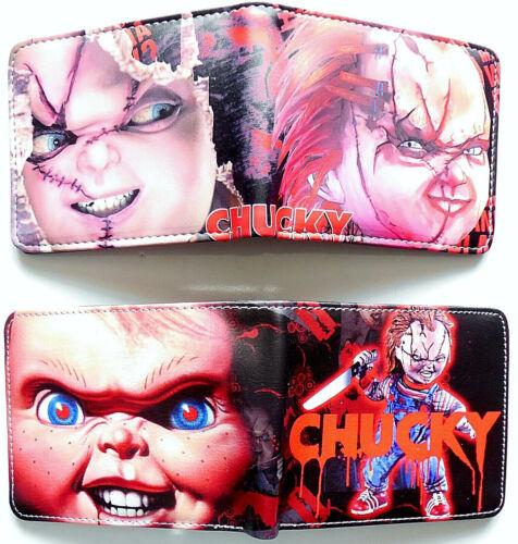 Bambola Chucky HORROR Portafoglio Borsa ID finestra con Cerniera Tasca Monete Card 2 stili Lafia