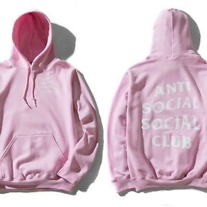 100-Authentic-ASSC-Anti-Social-Social-Club-Know-You-Better-Hoodie-Pink-Small