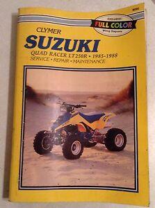 suzuki lt250r quadracer 1991 factory service repair manual