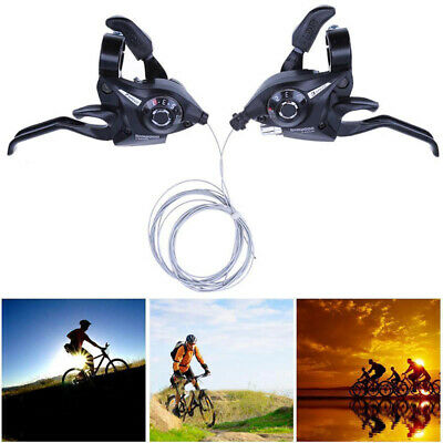 1 Pair 21 Speed Derailleurs Shifter Brake Lever Trigger MTB Bike Bicycle Parts