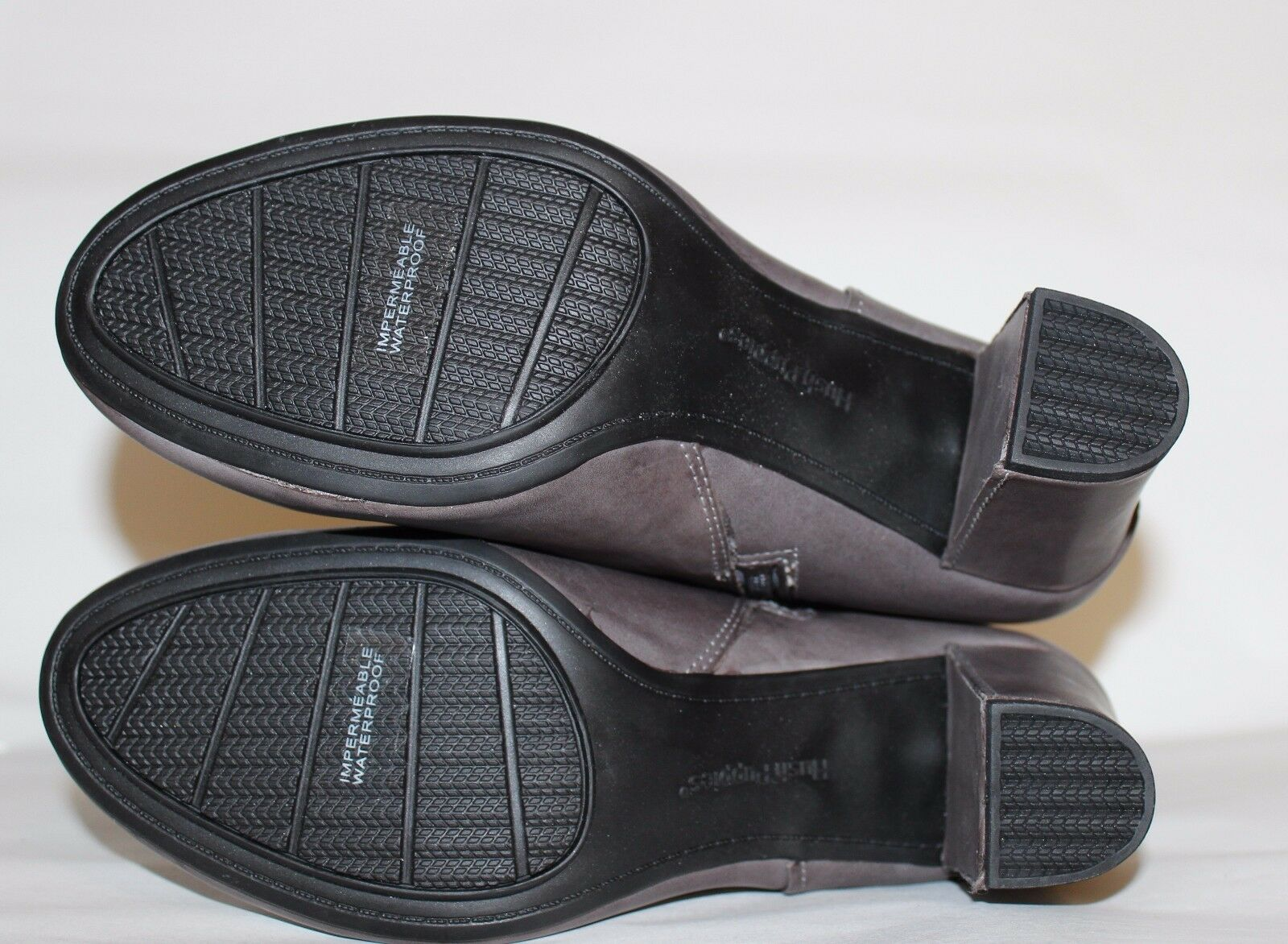 ✿HUSH PUPPIES Waterproof Gray Premium Leder 3