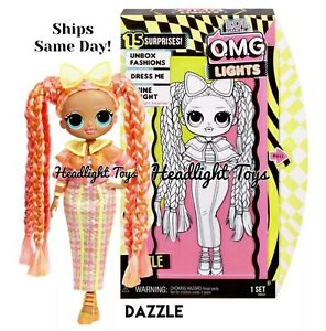 1-Authentic-LOL-Surprise-DAZZLE-OMG-Fashion-Doll-Lights-Series-2-Neon-In-Hand