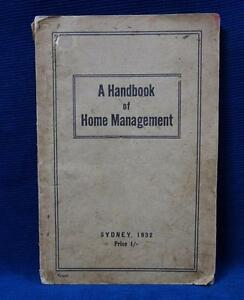 Details about A Handbook of Home Management Sydney 1932 Department of  Education NSW Book