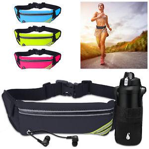 Running Outdoor Waist Pouch Bag Fanny Pack Sport Belt Zip Bum Bag Bottle Holder