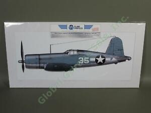 WWII-F4U-1-Corsair-Fighter-Airplane-Aviation-Art-US-Marines-Black-Sheep-VMF-214