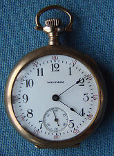 *VERY NICE WALTHAM POCKET WATCH - MODEL 1900, Grade No.115, Os, 15j, Circa 1912*